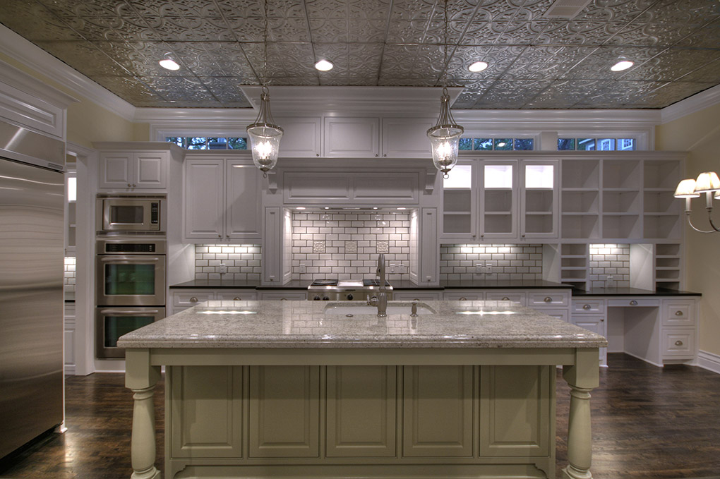 Tin Ceiling Tiles In A Kitchen