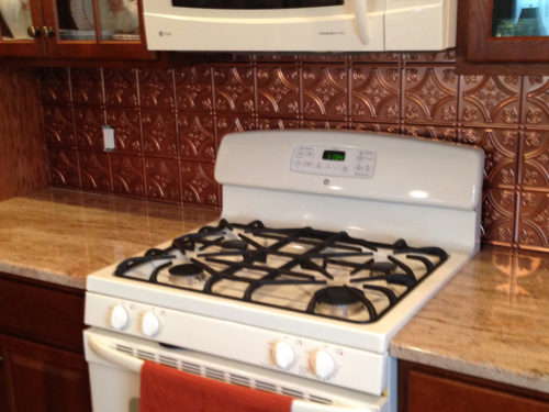Tin backsplash tiles for your kitchen