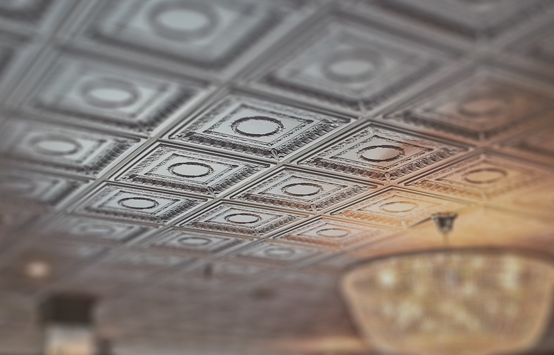 Chrome tin ceiling designs