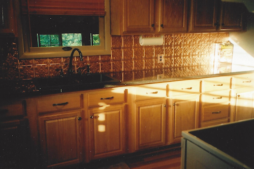 Tin tiles for kitchens