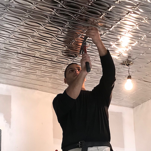tin ceiling tiles installers