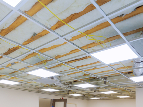 Drop ceiling installation