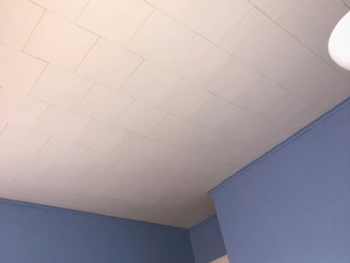 Drop ceiling tiles in residential homes