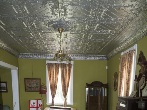 Traditional metal ceiling tiles