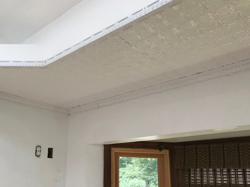 Residential tin tiles for ceilings
