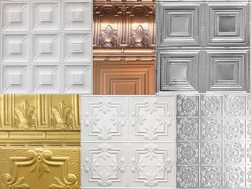 decorative tin ceiling tile colors