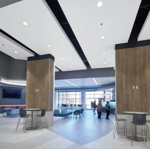 Fiberglass ceiling panels