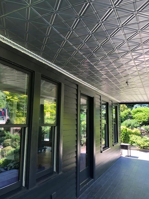 outdoor porch tin ceiling pattern