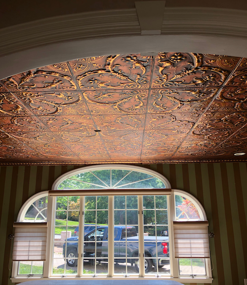 tin ceiling colors